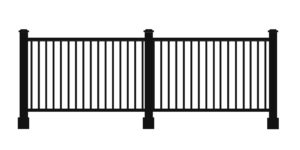 _0003_ULTRALOX® Post-To-Post Rail, Square Picket Rail Fascia Mount
