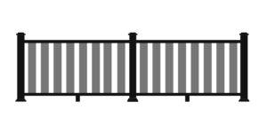 _0005_ULTRALOX® Post-To-Post Rail, Glass Picket